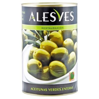 Оливки зеленые с/к (калибр 240-260), АЛЕСВЕС, 4кг