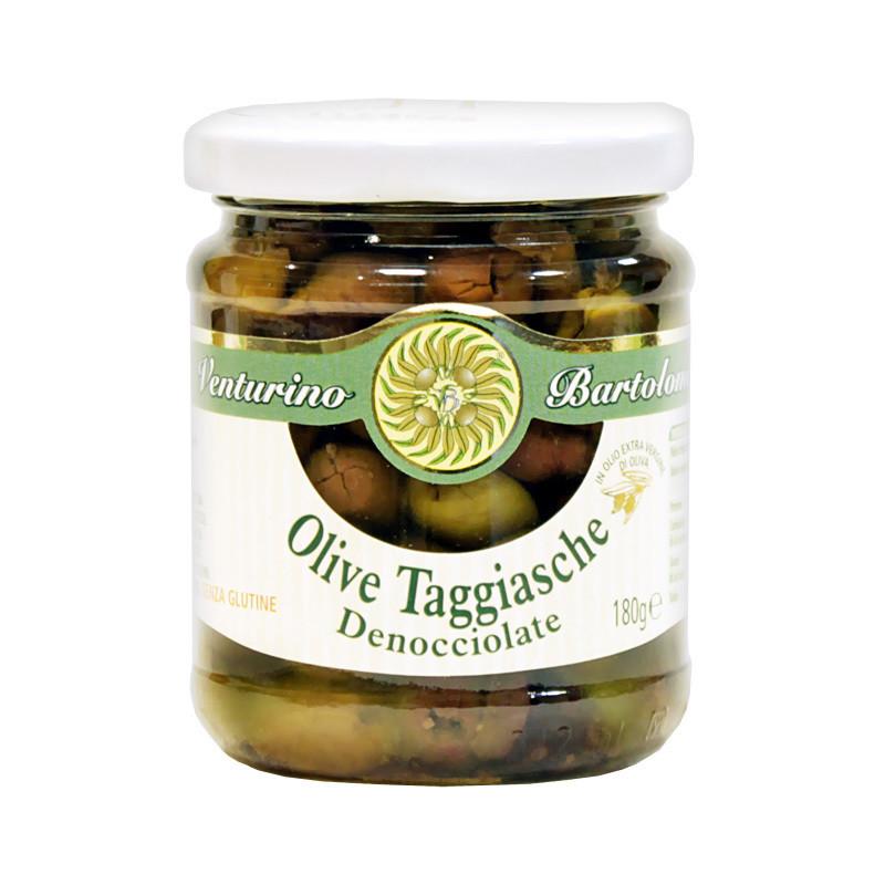Оливки таджиаска б/к в олив.масле, ВЕНТУРИНО, стекло 180г