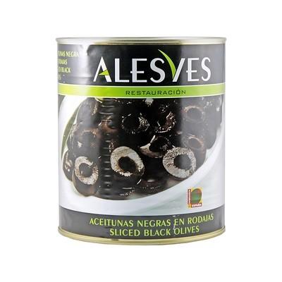 Оливки черные резаные, АЛЕСВЕС, 3кг