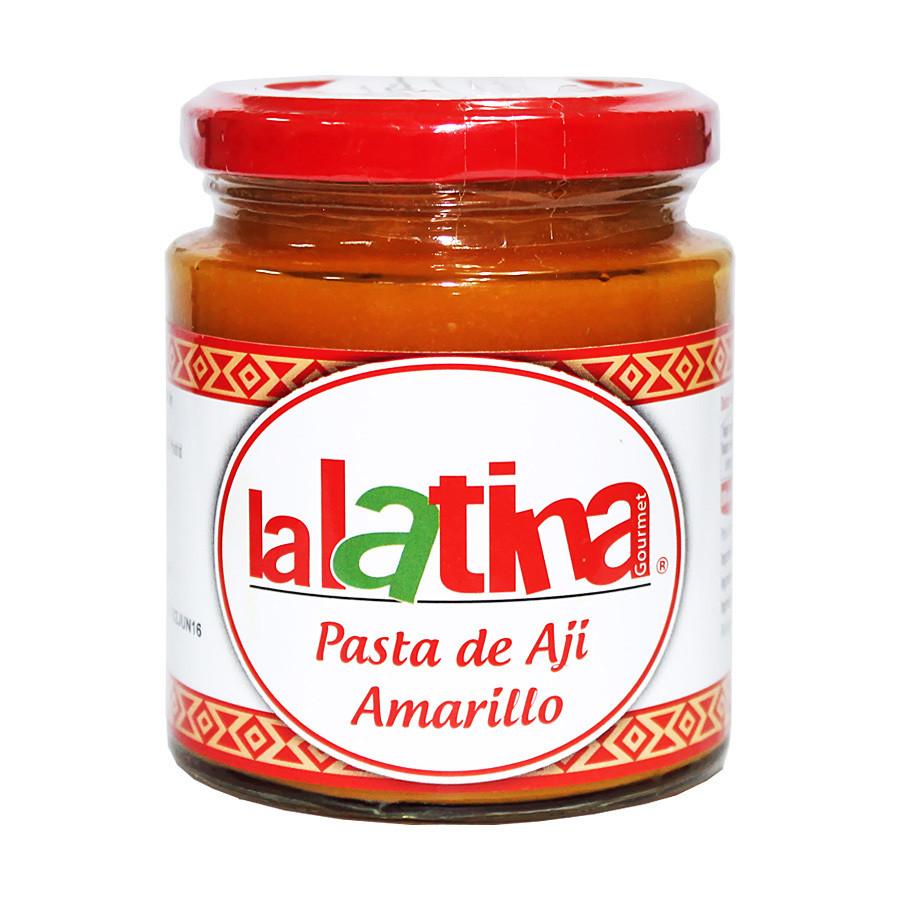 Паста из перца ахи амарилло желтая (aji amarillo), ЛА ЛАТИНА, стекло 225г
