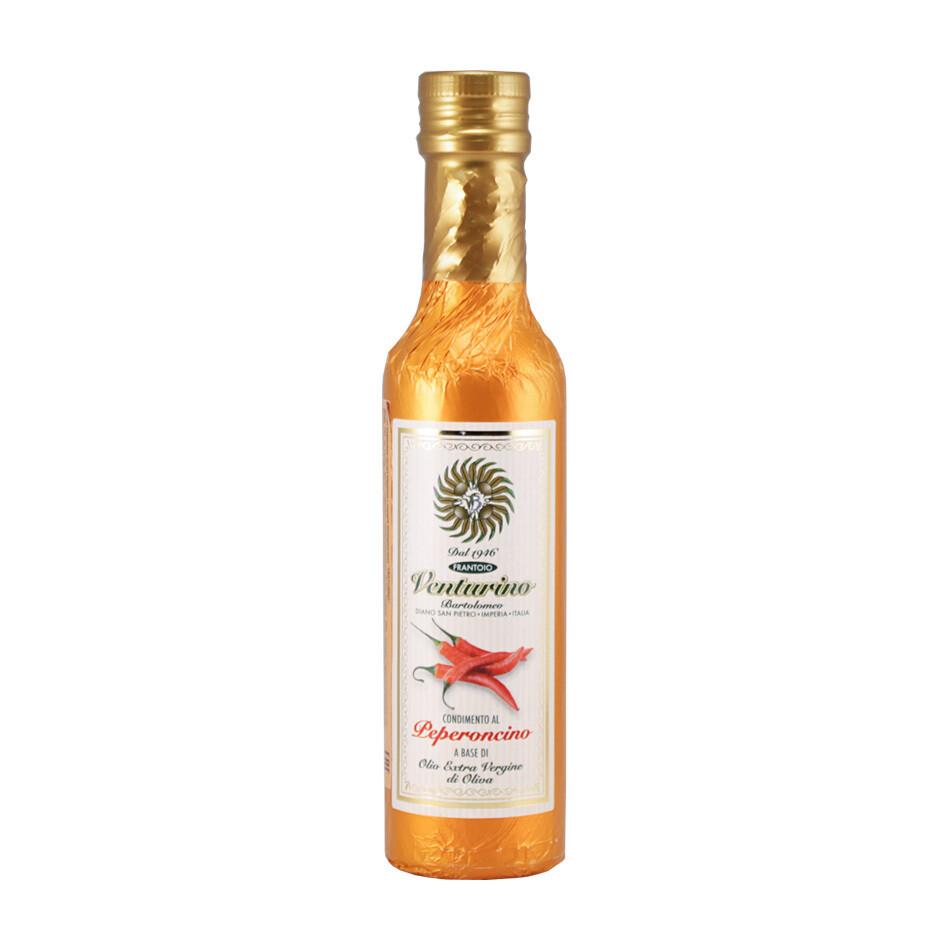 Масло оливковое с перцем чили, ВЕНТУРИНО, медная фольга 250мл