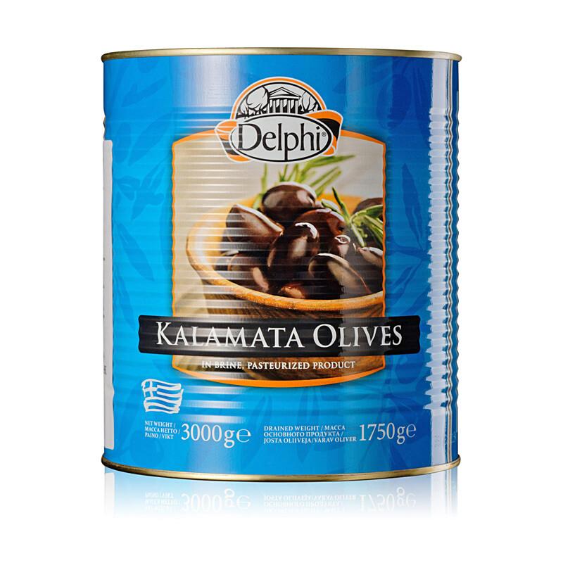 Оливки каламата без косточки (калибр 201-230), ДЕЛФИ, 3кг