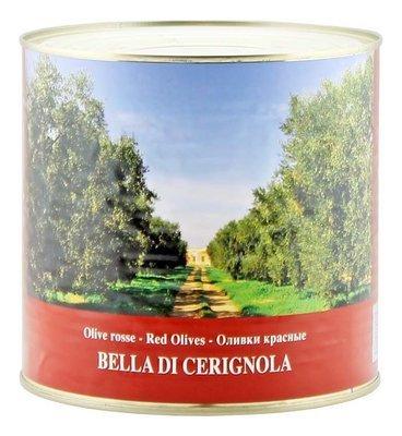 Оливки белла ди чериньола гигантские красные, ЭСКОДЖИТО, 2,6кг