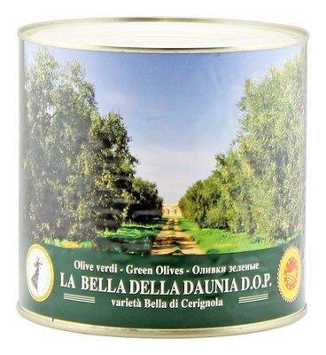 Оливки белла ди чериньола гиганские зеленые, ЭСКОДЖИТО, 2,6кг