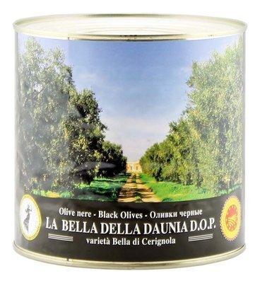 Оливки белла ди чериньола гигантские черные, ЭСКОДЖИТО, 2,6кг