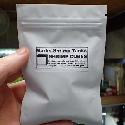 Shrimp N Snail Mineral Cubes 100g Loose In Ziplock