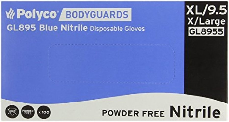 Nitril Blue Gloves Box 100