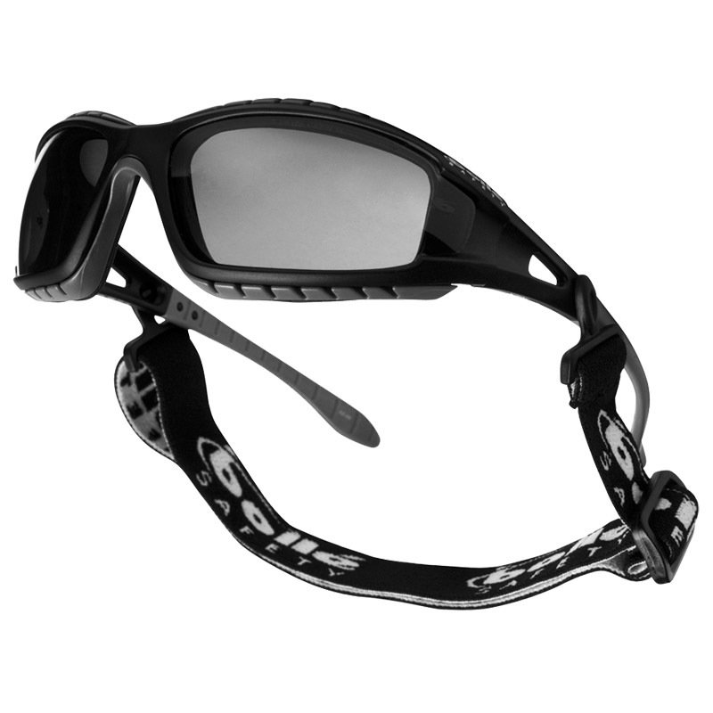 BOLLE TRACKER GLASSES CLEAR BLACK FRAME