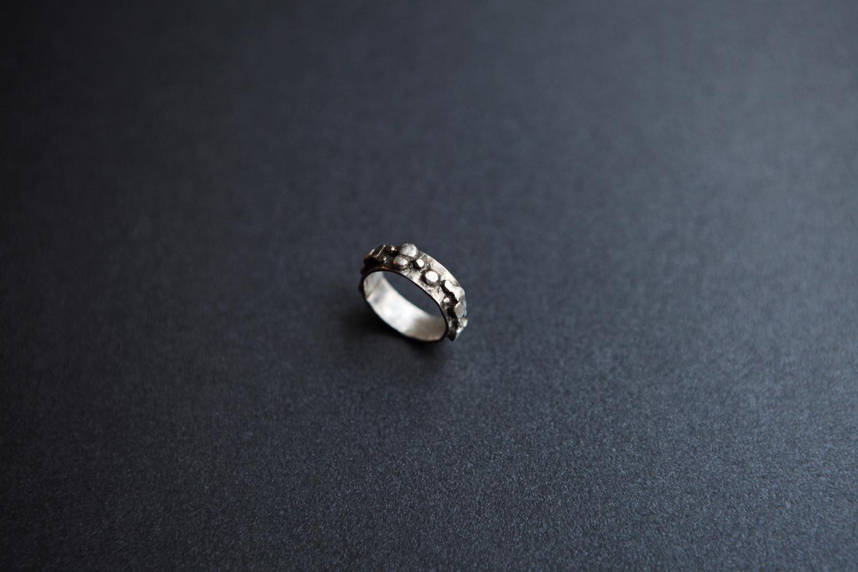 Серебряное фактурное кольцо