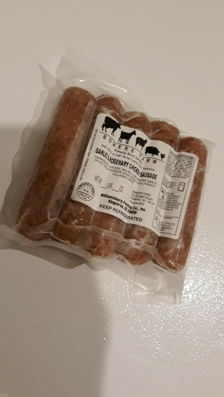 Garlic and Rosemary Chicken Sausage