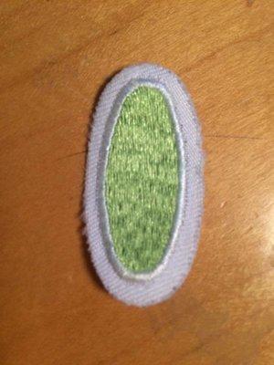 USED petal - lt green