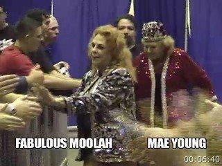 VOD - Fabulous Moolah & Mae Young vs Soundguy & Smoke (Inter-gender Tag Match)