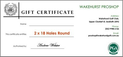 2 x 18 Holes Round of Golf Voucher