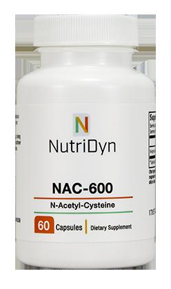 NAC 600, 100mg, 60 capsules - Nutridyn