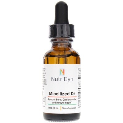 D3 Micellized 30ml 750 drops 1200iu/drop - Nutridyn