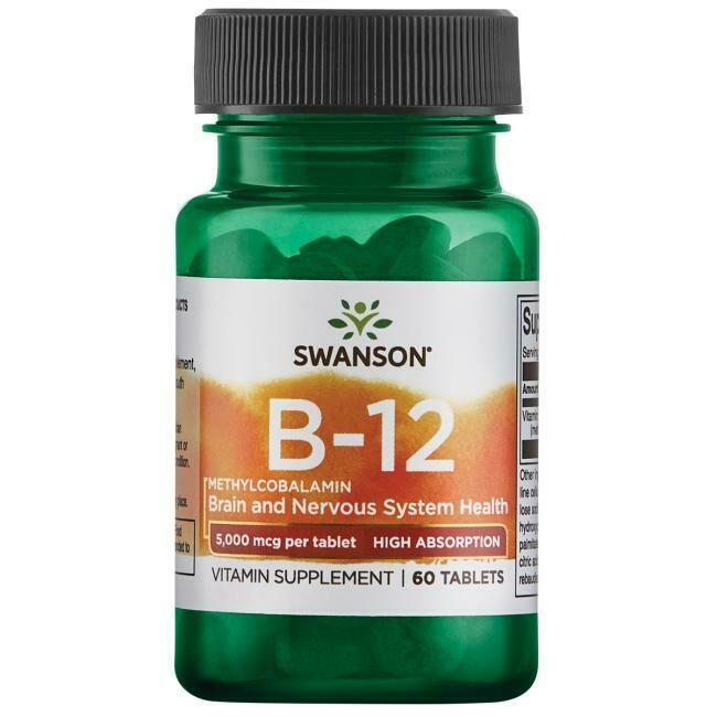 Vitamin B-12 Methylcobalamin, 5000mg, 60t - Swanson Vitamins