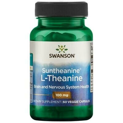 L-Theanine 60vc 100mg - Swanson Vitamins