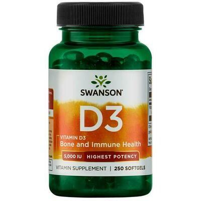 Vitamin D3 5000iu 250sg - Swanson Vitamins