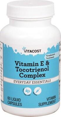 Vitamin E & Tocotreinol Complex 60 capsules - Vitacost