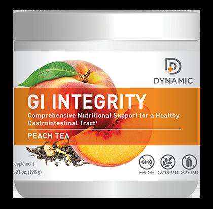 Dynamic G.I. Integrity אבקה להכנת משקה בטעם תה אפרסק לתמיכה במערכת העיכול
