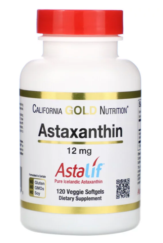 Astaxanthin, 12mg, 120vc - California Gold Nutrition