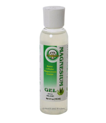 Magnesium Gel with Aloe , 118ml - Health and Wisdom
