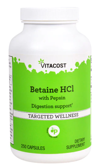 Betaine HCL 250c - Vitacost