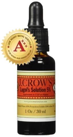 יוד לוגול 5%- משפר אנרגייה ומסייע - המקורי והיחידי שנבדק ונמצא נקי ממתכות כבדות - Lugol's Iodine Solution