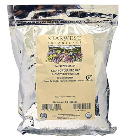 Organic kelp powder 453.6g - Starwest Botanicals