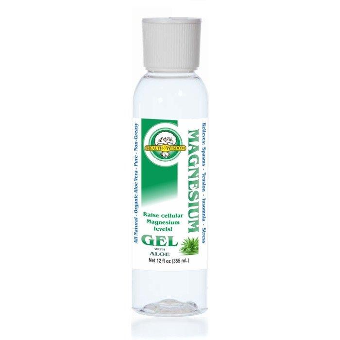 Magnesium Gel with Aloe , 355ml - Health and Wisdom