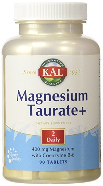 Magnesium Taurate+ , 400 mg, 90 Tablets - KAL