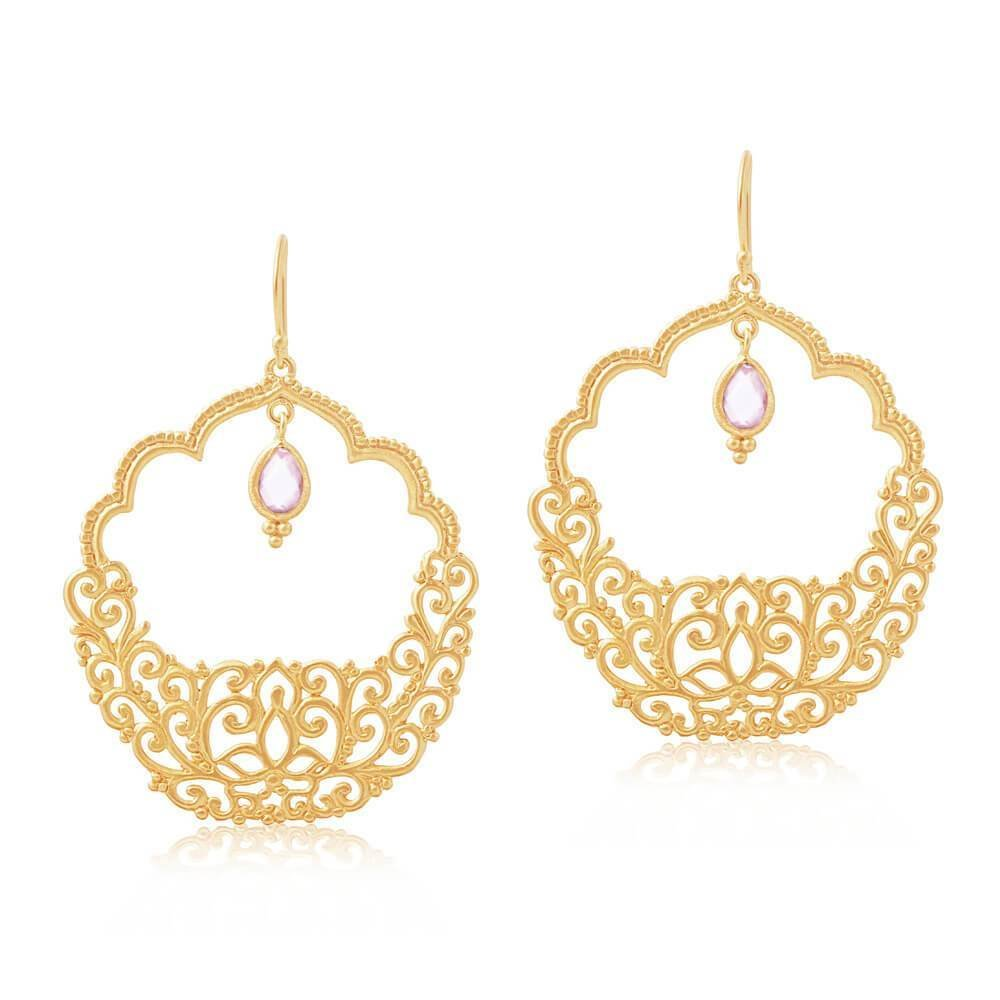 Warm Embrace Earrings • Rose Quartz