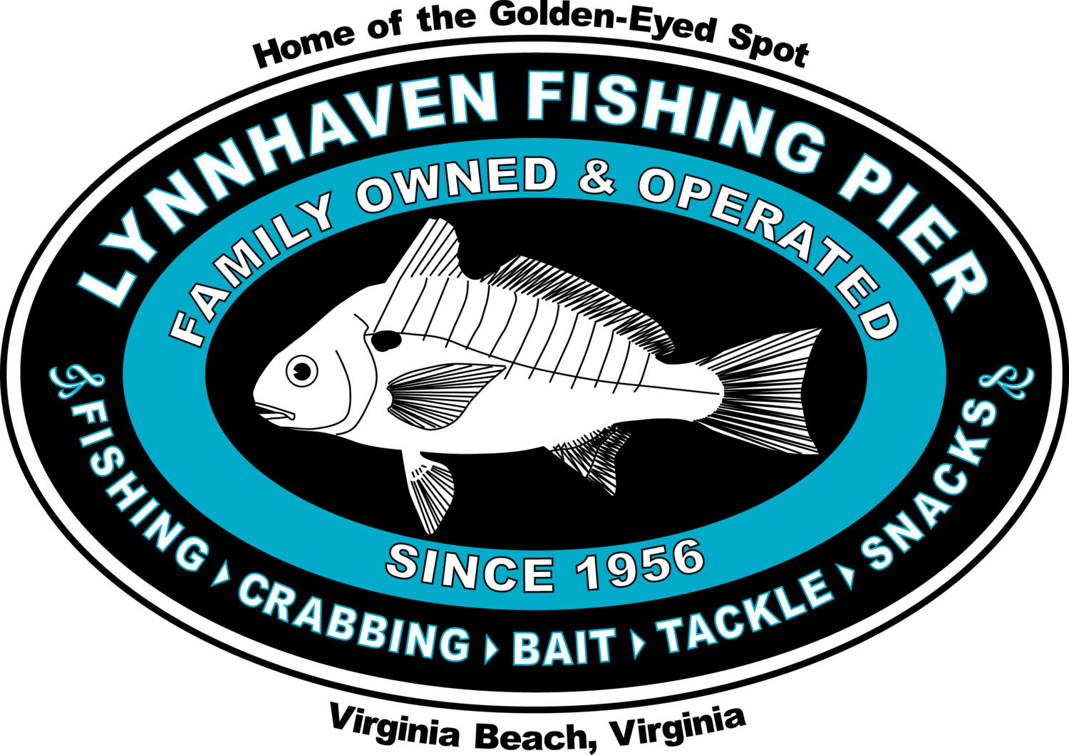 Lynnhaven Pier Logo Front T-Shirt: Women's Hanes Nano T (including plus sizes)