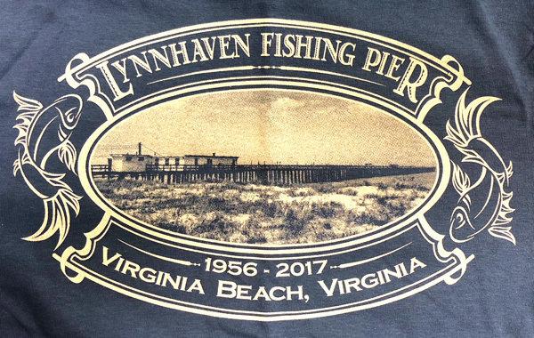 2X INDIGO Long Sleeve Vintage Postcard T-Shirt with Front Left Chest Logo (Memorial T-Shirt)