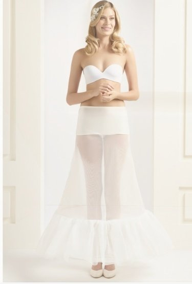 """H1 220 2 hoop underskirt with ruffle 87"""" H1 220 Large"""