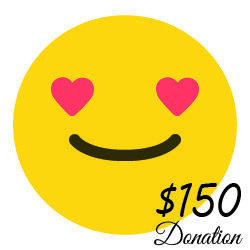 $150 Donation  ( 55 cents a day)