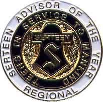 Region Serteen Advisor of the Year Pin