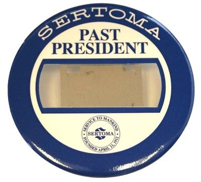 Past President Badge - Blue/White - Bull Dog Clip