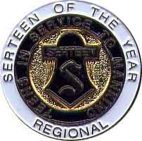 Region Serteen of the Year Pin