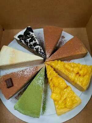 MM【MangoMango】(买3份以上千层蛋糕送1份绿茶或巧克力毛巾卷)芒果/榴莲/绿茶/奥利奥/巧克力千层/咖啡千层