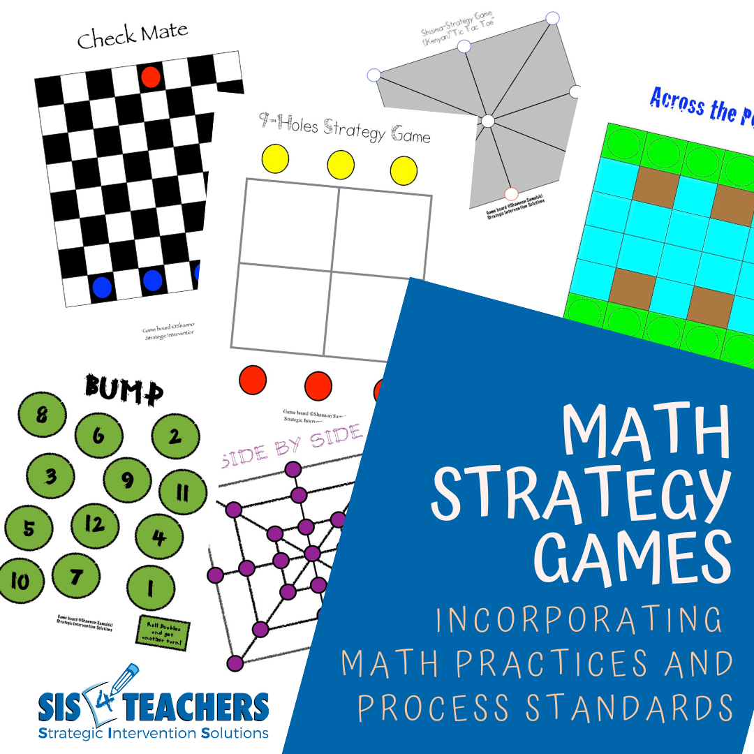 Math Strategy Games: Incorporating Math Practices and Process Standards (Digital Download)
