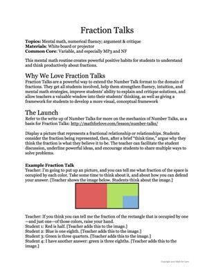 Fraction Talks: For the Love