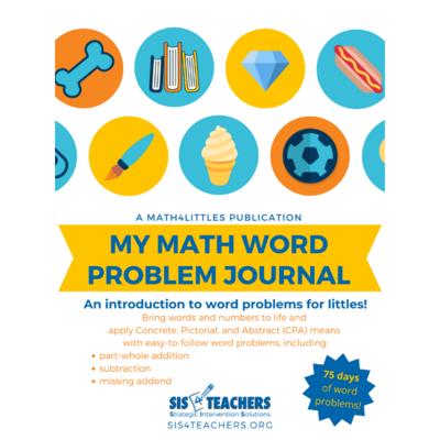 My Math Word Problem Journal - Kindergarten
