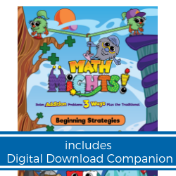 Math Mights 8-in-1 Flip Chart: Addition Strategies + Digital Download Companion