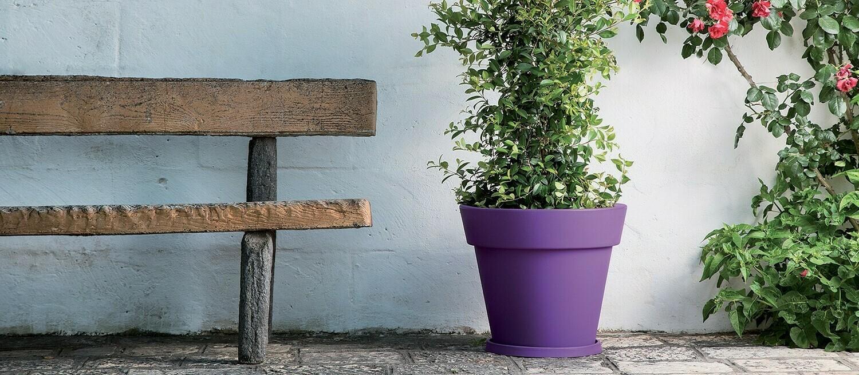 Vaso Tondo Gemma moderno bordato 50 x h 44 cm in resina