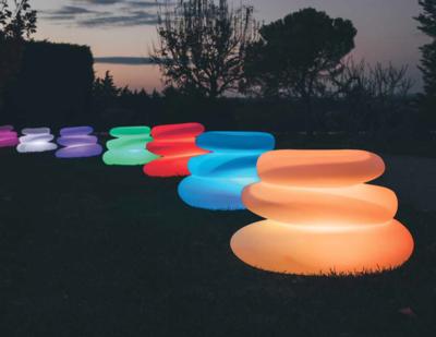 Vaso Tondo Eden luce luminoso 75 x 62 x h 47 cm