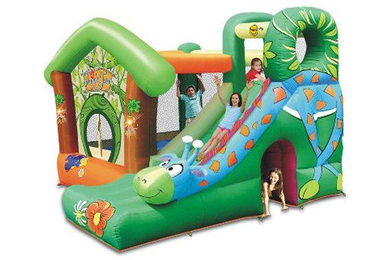 Castello gonfiabile saltarello per bambini Jungle Fun 350 cm