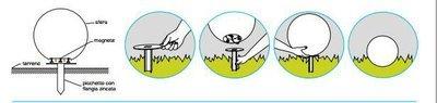 Kit di fissaggio con pichetto per lampade Moon da 40 a 150 cm