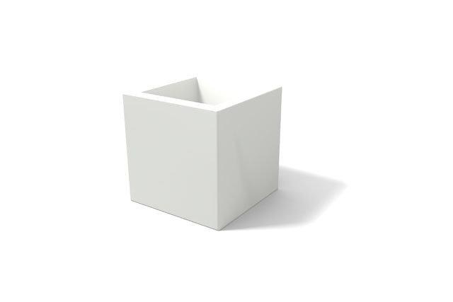 Cubo Tevere 35 x 35 x 35 cm moderno in resina