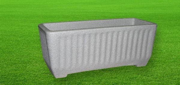 Cassetta Maggiore color pietra cemento da 80, 100 cm in resina